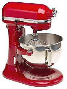 KitchenAid Professional 5 Plus Stand Mixer RKV25G0XER, 5-Quart, Empire Red, (Certified Refurbished)